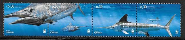Sellos Filatelia fauna protegida - pez espada