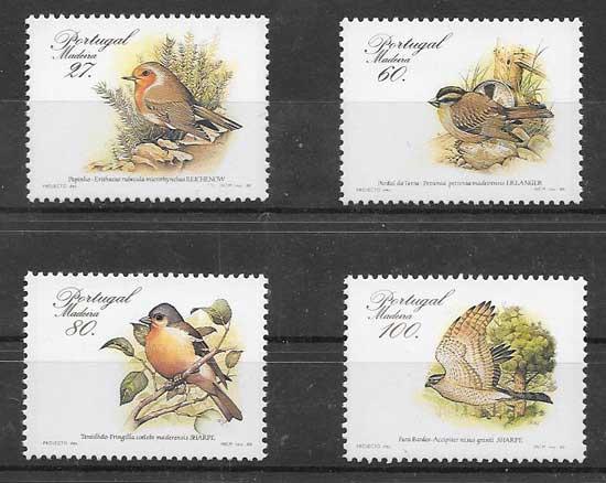 Sellos fauna regional Madeira 1988