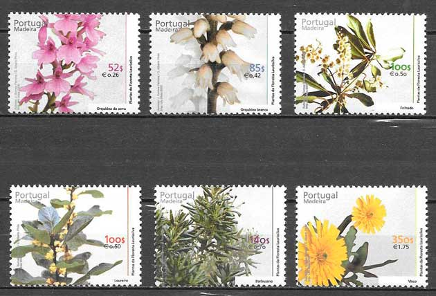 filatelia flora Portugal Madeira 2000