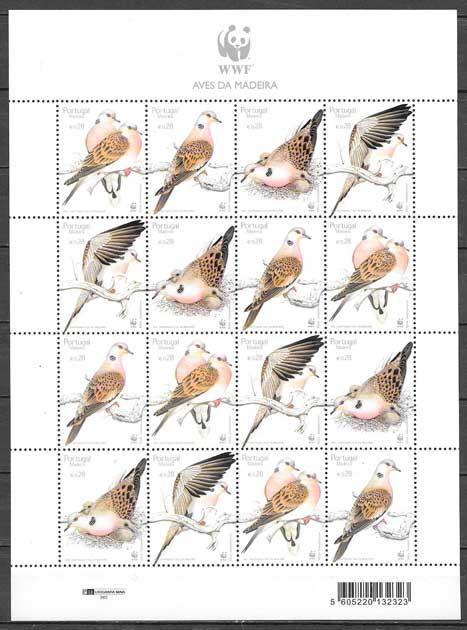 colección sellos fauna wwf