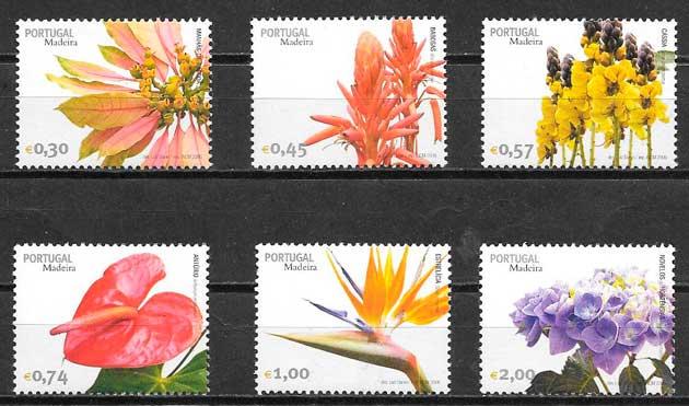 filatelia flora Portugal Madeira 2006