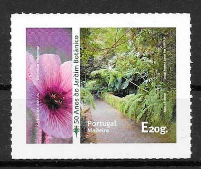 colección sellos flora Madeira 2014