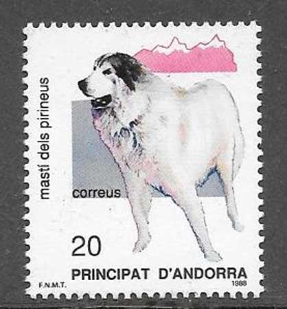 Filatelia fauna Andorra Española 1988