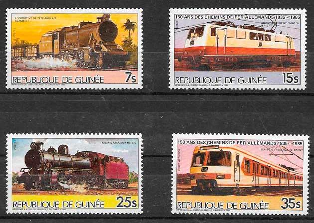 colección sellos Guinea 1985
