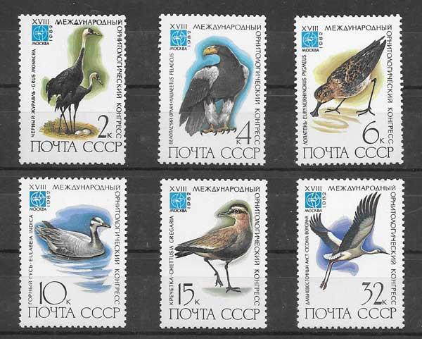 Filatelia fauna - diversidad de aves