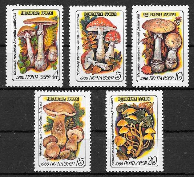 sellos setas Rusia 1986