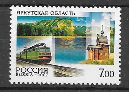 Colección sellos Tren de Rusia 2007