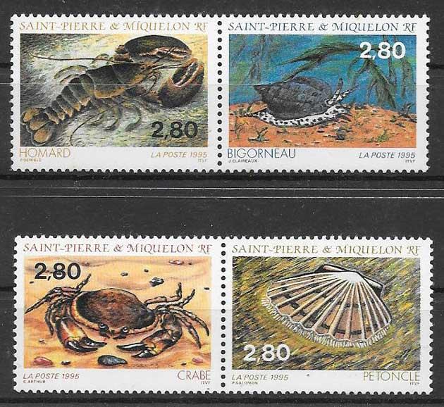 sellos fauna Saint Pierre 1995