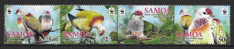 filatelia colección fauna wwf Samoa 2011