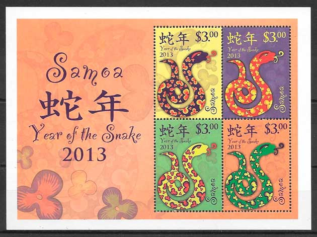 sellos año lunar Samoa 2013