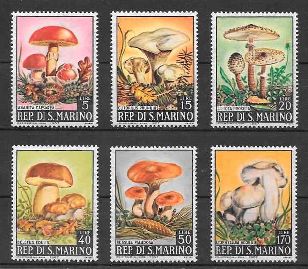 filatelia colección setas San Marino 1967