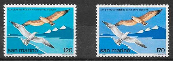 colección sellos fauna San Marino 1978