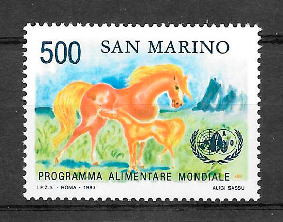 sellos fauna San Marino 1983