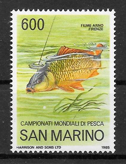 colección sellos fauna San Marino 1985