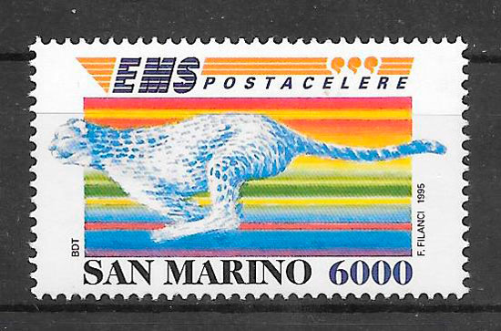 colección sellos fauna San Marino 1995