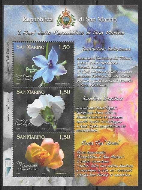 sellos flora San Marino 2011