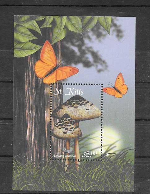 Filatelia sellos serie de flora y fauna - setas.