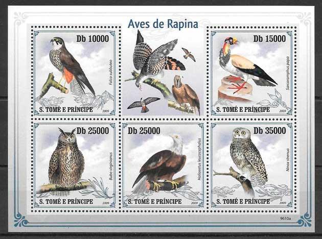 sellos fauna Santo Tome y Príncipe 2009