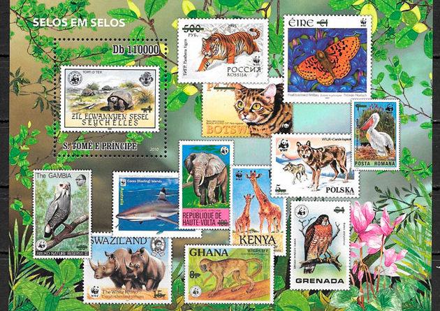 sellos fauna Santo Tomé y Príncipe 2010