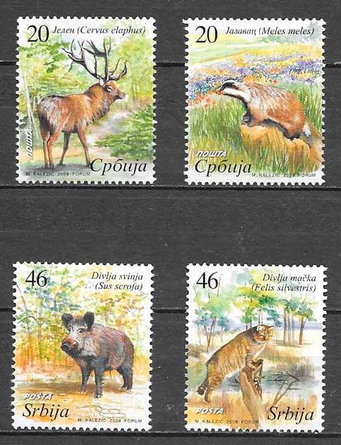 filatelia fauna Serbia 2008