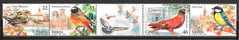 colección sellos fauna Serbia 2010