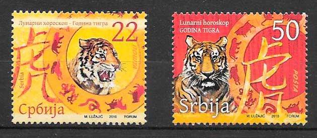 colección sellos año lunar serbia 2010