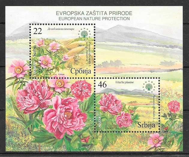 sellos flora Serbia 2010