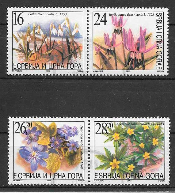 sellos flora Serbia 2003