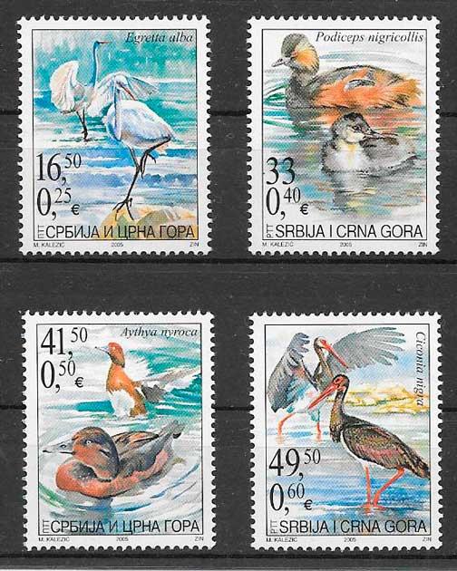 sellos fauna Serbia Montenegro 2005