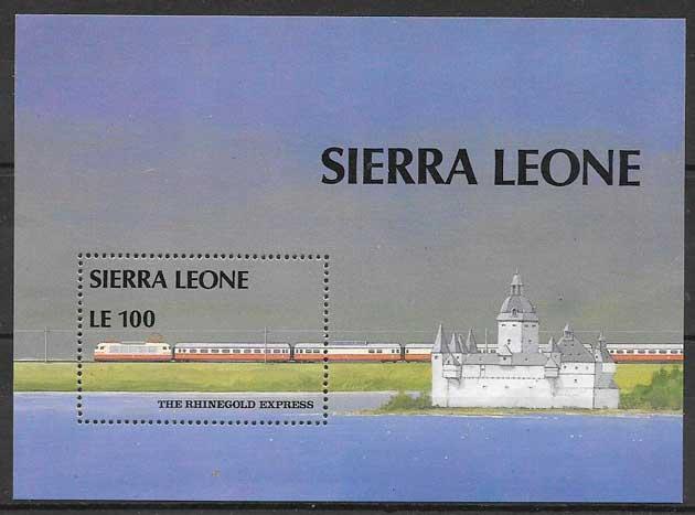 sellos trenes Sierra Leona 1987