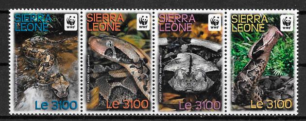 filatelia colección wwf Sierra Leona 2011