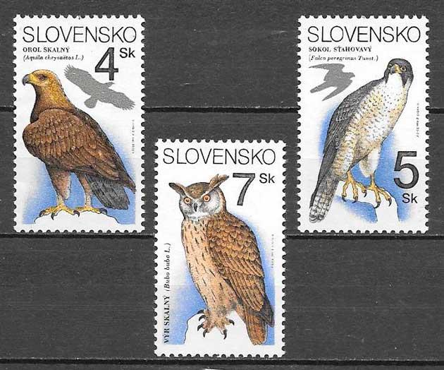 colección sellos fauna Eslovaquia 1994