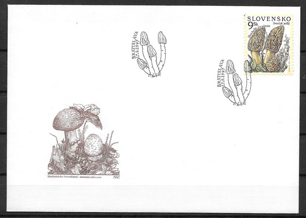 colección sellos setas Eslovaquia 1997
