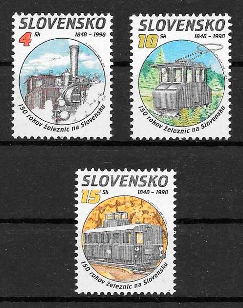 filatelia trenes Eslovaquia 1998