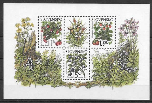 Estampillas flora Eslovaquia 2000