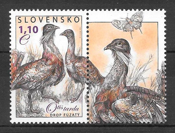 sellos fauna Eslovaquia 2011