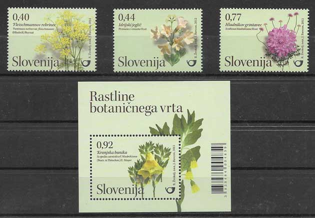 Colección Sellos flora orquídeas Eslovenia 2012