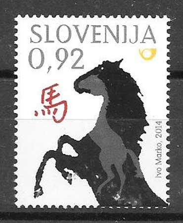 sellos año lunar Eslovenia 2014
