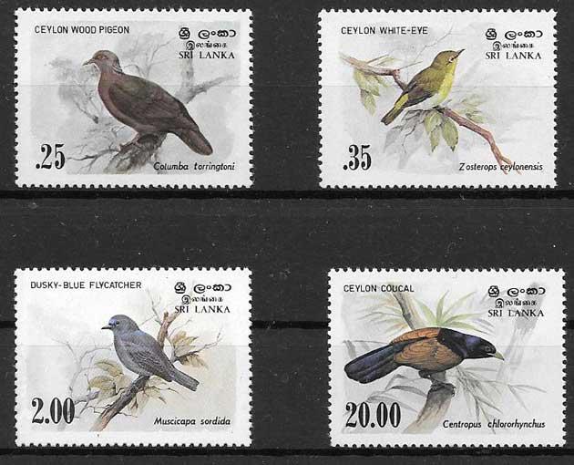 Fikatelia fauna Sri Lanka 1983
