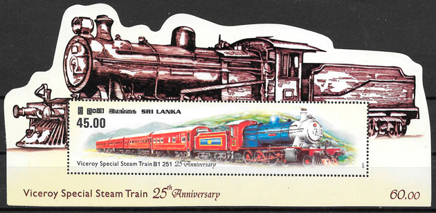 sellos trenes Sri Lanka 2011