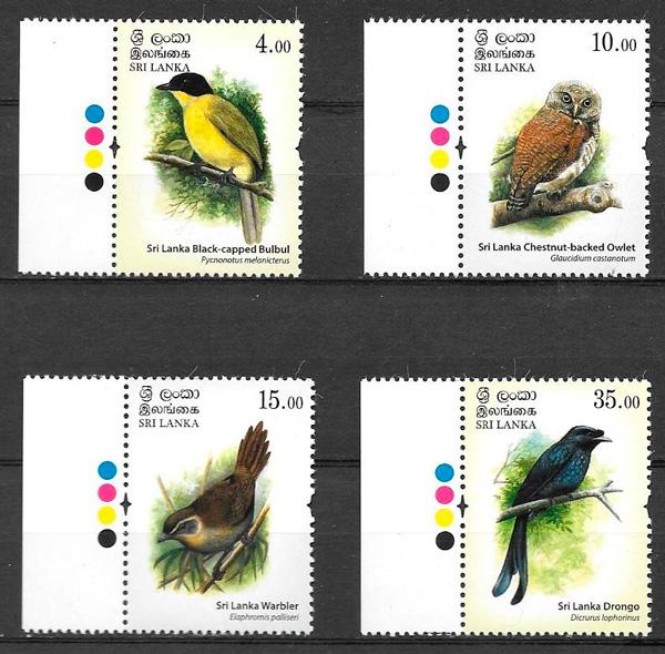 sellos fauna Sri Lanka 2017