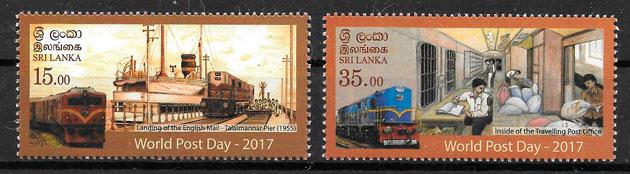 filatelia trenes Sri Lanka 2017