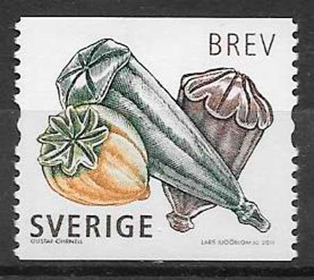 colección sello flora Suecia 2011