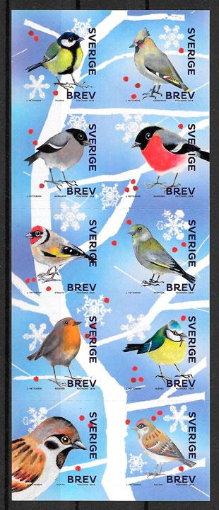 colección sellos fauna Suecia 2018