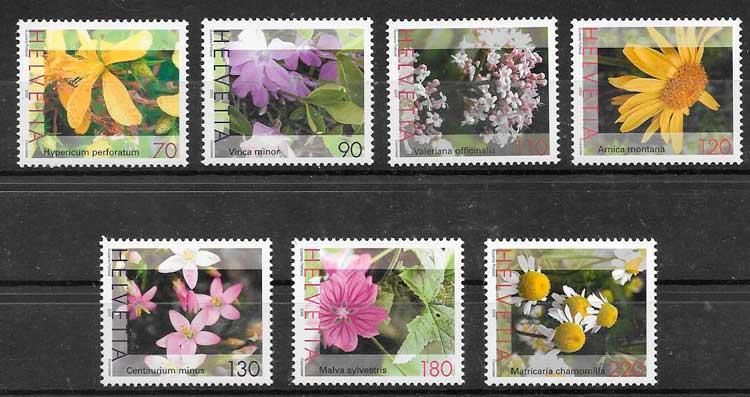 colección sellos flora Suiza 2003