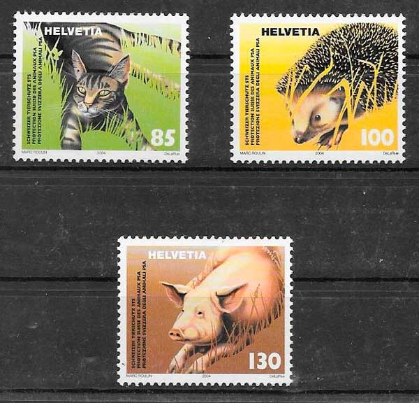 sellos fauna Suiza 2004
