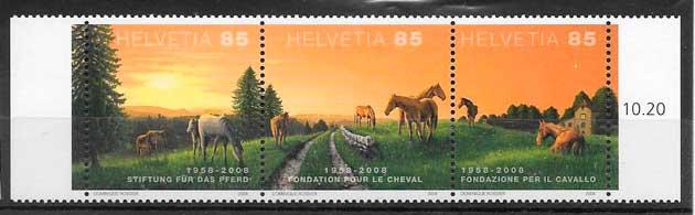 filatelia fauna Suiza 2008
