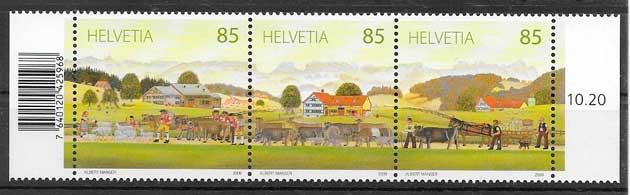 filatelia fauna Suiza 2009