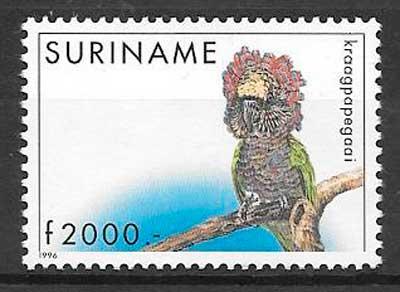 filatelia fauna Suriname 1996