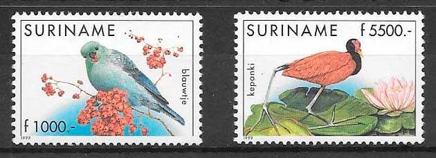 sellos fauna Suriname 1999